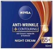 Nivea 50Ml Anti-Wrinkle + Contouring Night Cream 65+ -Yövoide