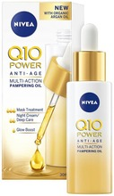 Nivea 30Ml Q10 Power Anti-Age Multi-Action Pampering Oil -Kasvoöljy