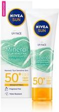 Nivea Sun 50Ml Mineral Uv Protection Face Sensitive Sk50 Sun Cream -Aurinkosuojavoide