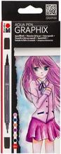 Marabu Graphix Manga Kaksipäinen Vesivärikynä
