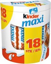 Kinder Maxi 21G 18-Pack. Maitosuklaata Maitoisalla Täytteellä (60%)