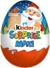 Kinder Maxi Surprise Maitosuklaahahmo Maitoisalla Sisäpinnalla. Sisältää Lelun 100G Joulu