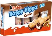 Kinder Happy Hippo Maito- Ja Kaakaokreemillä Täytetty Rapea Vohvelipatukka 5Kpl/103G