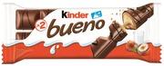 Kinder Bueno 43G Maitosuklaapäällysteinen Vohveli Maitoisalla Hasselpähkinätäytteellä