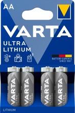 Varta Ultra Lithium 4Xaa Litiumparisto