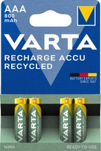 Varta recycled 4xAAA ladattava akkuparisto 800mAh