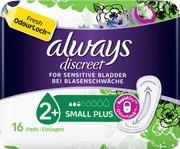 Always 16Kpl Discreet Small Plus Pads Inkontinenssiside