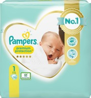 Pampers 22kpl Premium Protection New Baby S1 2-5kg vaippa