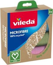 Vileda Microfibre 100% Recycled Mikrokuituliina 3 Kpl