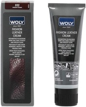 Woly Fashion Leather Cream Kenkävoide Keskiruskea 75Ml