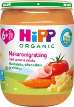 HiPP 190g Luomu Nuudeleita, vihanneksia ja kinkkua 6 kk