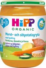 Hipp 190G Luomu Porkkanaa, Bataattia Ja Kanaa 8 Kk