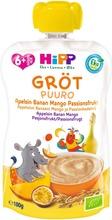 Hipp 100G Luomu Puurosmoothie Appelsiini/Banaani/Mango/Passionhedelmä Kaura Ja Vehnä 6Kk