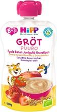 Hipp 100G Luomu Puurosmoothie Omena/Banaani/Mansikka/Granaattiomena Kaura Ja Vehnä 6Kk
