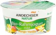 Andechser Natur Kermajogurtti Mango-Vanilja 150G Luomu