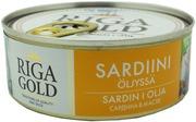 RIGA GOLD Sardiinipala öljyssä 240g/168g