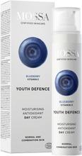 Mossa Youth Defence Moisturising Antioxidant Päivävoide, 50Ml