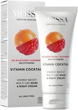 Mossa Vitamin Cocktail Energy Boost Multi-Use Naamio Ja Yövoide, 60Ml