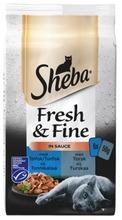 Sheba 6X50g Fresh&Fine Kalalajitelma Kastikkeessa Msc