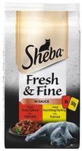 Sheba 6X50g Fresh&Fine Sekoitus Härkää Ja Kanaa Kastikkeessa