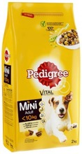 Pedigree Mini <10Kg Kanaa Ja Kasviksia 2Kg