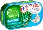 John West Sardiinit Vedessä 120/90G
