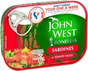 John West Ruodottomia Sardiineja Tomaattikastikkeessa 95G