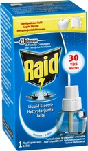 Raid Liquid Electric 30 Yötä Sähköinen Hyttyskarkotin Täyttö