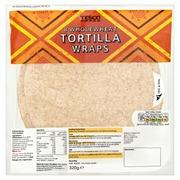Tesco 320G Wholewheat Tortilla Wraps Täysjyvätortilla 8Kpl
