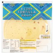 Tesco 320G Corn Tortilla Wraps Maissitortilla 8Kpl