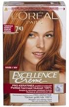 L'oréal Paris Excellence Creme 7.43 Golden Copper Blonde Tummanvaalea Kuparikulta Kestoväri 1Kpl