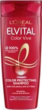 L'oréal Paris Elvital Color-Vive Shampoo Värjätyille Ja Raidoitetuille Hiuksille 250Ml