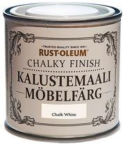 Rust-Oleum Chalky Finish 125Ml Kalustemaali Vesiohenteinen Runsaspigmenttinen Valkoinen