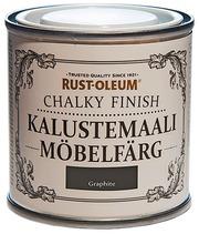Rust-Oleum Metallic Finish 125Ml Kalustemaali Vesiohenteinen Hajuton Runsaspigmenttinen Tummanharmaa