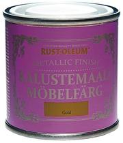Rust-Oleum Metallic Finish 125Ml Kalustemaali Vesiohenteinen Hajuton Runsaspigmenttinen Kullanvärinen