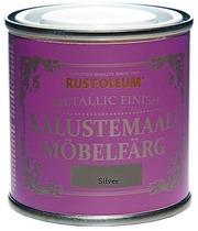 Rust-Oleum Chalky Finish 125Ml Kalustemaali Vesiohenteinen Runsaspigmenttinen Hopeanvärinen