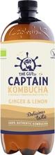 950Ml The Gutsy Captain Kombucha Ginger Lemon, Inkiväärin Ja Sitruunan Makuinen Kombucha-Juoma Luomu