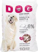 Kuivaruoka liha 10kg dog
