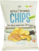 Crispy 150g Kettle Cooked Chips Seasalt orgaaninen perunalastu