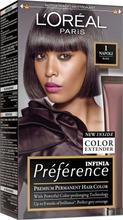L'oréal Paris Préférence Infinia 1 Napoli Black Musta Kestoväri 1Kpl
