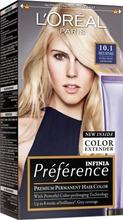 L'oréal Paris Préférence Infinia 10.1 Helsinki Extra Light Ash Blonde Erittäin Kirkas Tuhkanvaalea Kestoväri 1Kpl