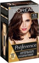 L'oréal Paris Préférence Infinia 4.15 Caracas Deep Mahogany Brown Syvä Mahonginruskea Kestoväri 1Kpl