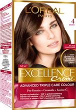 L'oréal Paris Excellence Creme 4 Brown Tummanruskea Kestoväri 1Kpl