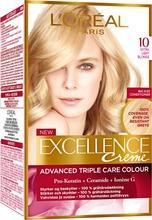 L'oréal Paris Excellence Creme 10 Extra Light Blonde Kirkas Vaalea Kestoväri 1Kpl