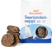 Perheleipuri Salonen Saaristolaisnappi 8/310G Ruisleipä, Halkaistu