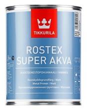 Tikkurila Rostex Super Akva Ruosteenestopohjamaali 1L Vaaleanharmaa Himmeä