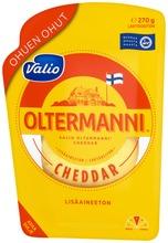 Valio Oltermanni Cheddar Ohuen Ohut E270 G Viipale