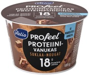 Valio Profeel Proteiinivanukas 185 G Suklaa-Nougat Makeutusaineeton Laktoositon
