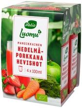 Valio Luomu Mansikkainen Hedelmä-Porkkana Shot 4 X 100 Ml