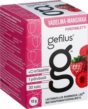 Gefilus Vadelma-Mansikka Maitohappobakteeri-C-Vitamiinivalmiste Purutabletti 30Tabl 13G Ravintolisä